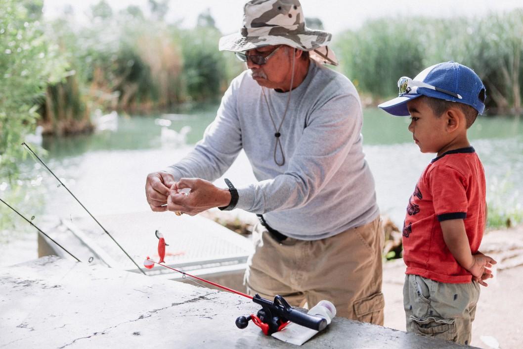 pêcher en famille